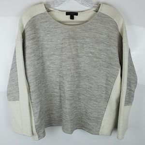 J.CREW | GRAY COLOR BLOCK SWEATSHIRT